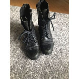 """Used Steve Madden """"Troopa"""" Combat Boots Sz 9"""